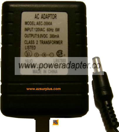 AASTRA AEC-3590A AC DC ADAPTER 9V 6W POWER SUPPLY
