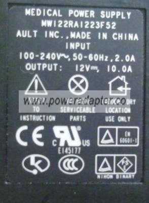 Ault MW122RA1223F52 AC ADAPTER 12VDC 10A 8Pin Din Power Supplies