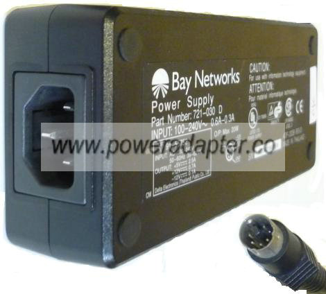 BAY NETWORKS ADP-20DB AC ADAPTER 12V 0.7A 20W POWER SUPPLY