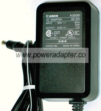 CANON K30081 AC ADAPTER 13.5V DC 1A POWER SUPPLY