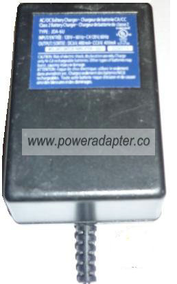 JDA-6U AC ADAPTER 6VDC 400mA CLASS 2 BATTERY CHARGER CA / CC Pow