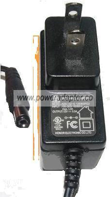 HONOR ADS-7 5Z-12 12006GPCU AC ADAPTER 12V 0.5A PLUG IN POWER SU