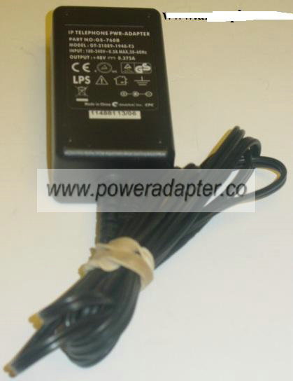 IP TELEPHONE PWR-ADAPTER GT-21089-1948-T3 AC ADAPTER 48V 0.375A