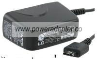 LG STA-P51WS AC ADAPTER 4.8VDC 0.9A TRAVEL CHARGER FOR LG PHONE