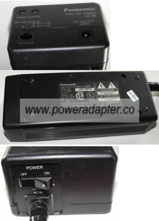 PANASONIC AG-B6HP AC ADAPTER 12Vdc 1.8A NEW POWER SUPPLY