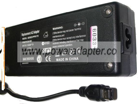 PPP017H REPLACEMENT AC ADAPTER 18.5V 6.5A LAPTOP POWER SUPPLY Fo