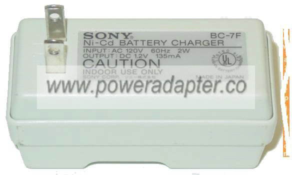 SONY BC-7F NI-CD BATTERY CHARGER