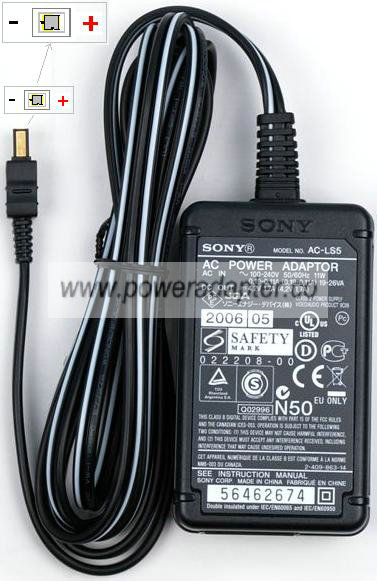 SONY AC-LS5 AC DC ADAPTER 4.2V 1.5A SWITCHING POWER SUPPLY Charg ...