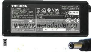Toshiba AC Adapter 15VDC 4A Original Power Supply for Satellite