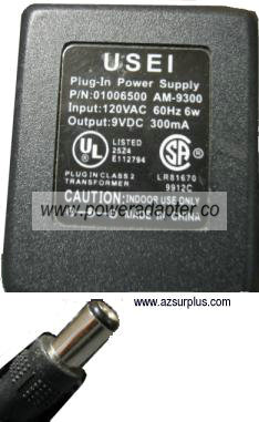 USEI AM-9300 AC ADAPTER 5VDC 1.5A AC ADAPTER PLUG-IN CLASS 2 TRA