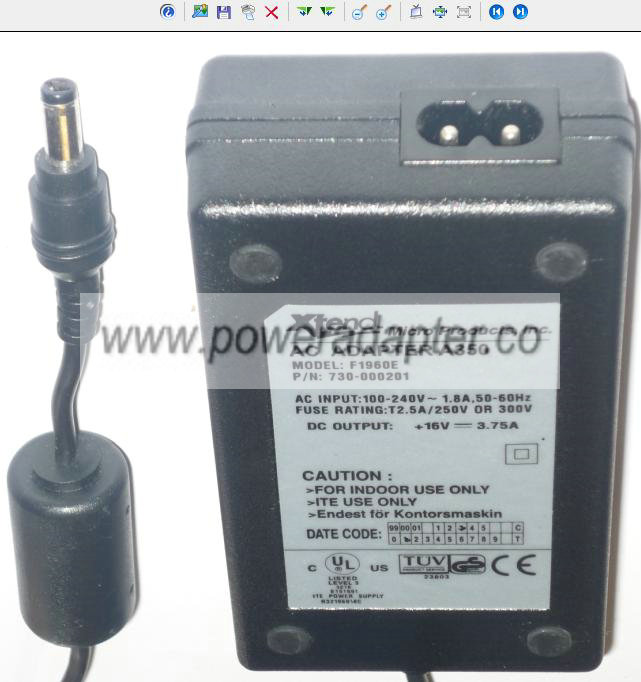 YNG YUH YP-085A Linear AC ADAPTER 7.5VDC 1.5A DIRECT PLUG-IN New [YNG