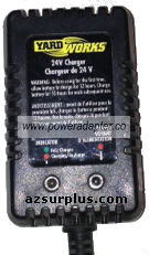 YARDWORKS 29310 AC ADAPTER 24V DC NEW BATTERY CHARGER
