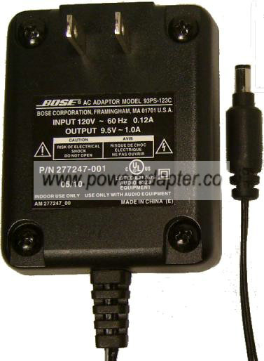 BOSE 93PS-123C AC ADAPTER 9.5VAC 1A POWER SUPPLY AM277247_00