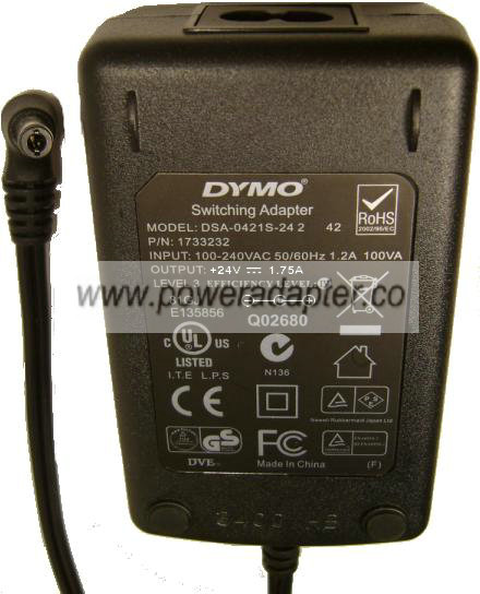 AC DC Adapter Charger for Dymo DSA-0421S-242 Printer Switching Power Supply Cord