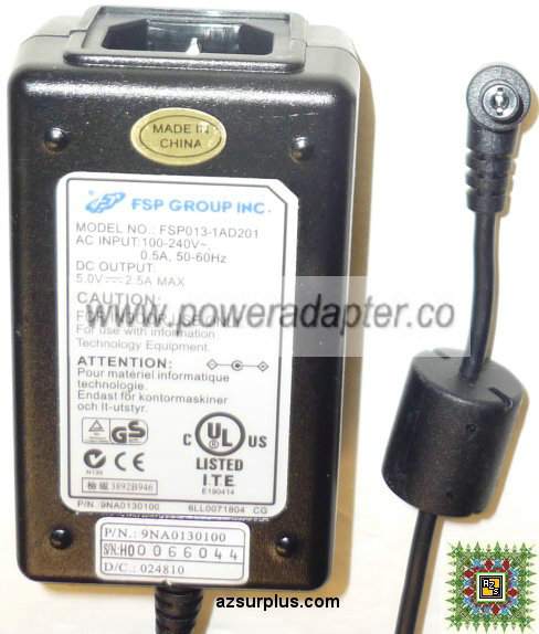 FSP GROUP INC FSP013-1AD201 AC ADAPTER 5VAC 2.5A Power Supply IT