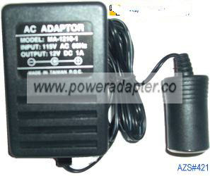 AC ADAPTER MA-1210-1 12VDC 1A USE YOUR CAR CELL PHONE Car CHARGE