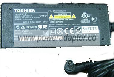 TOSHIBA ADP-36CH AC DC ADAPTER 12V 3A POWER SUPPLY