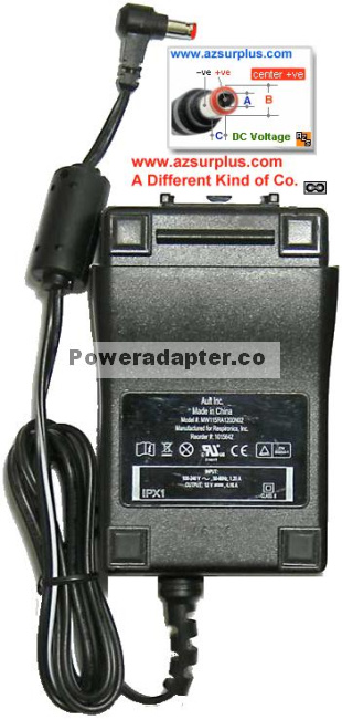 Ault MW115RA1200N02 AC ADAPTER 12VDC 4.16A NEW -( )- 2.5x5.5mm