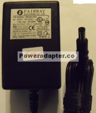 FAIRWAY WN20U-050 AC ADAPTER 5V DC 3A POWER SUPPLY