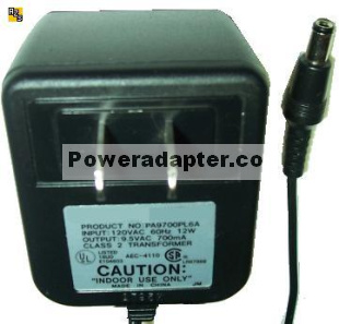 Finecom PA9700PL6A_c39280-z4-c477 AC ADAPTER 9.5VAC 700mA POWER