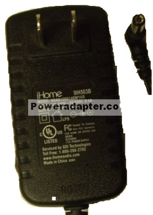 IHOME KSAD1000140W1US AC ADAPTER 10VDC 1.4A -( )- 2x5.5mm 100-24