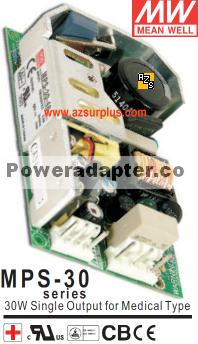 Mean Well MPS-30-12 12VDC 2.5A POWER SUPPLY MPS-30 Series 30W Si