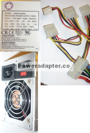 LEADING THE NEW MILLENNIUM ORION-300S2 ATX POWER SUPPLY 5V 30A