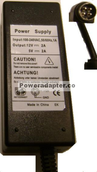 SWITCHING POWER SUPPLY AC DC ADAPTER 12V 5V 2A DM5127 Replacemnt