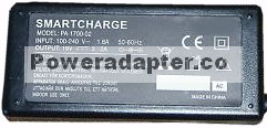 SMARTCHARGE PA-1700-02 AC ADAPTER 20VDC 4.5A NEW 1x5.6x7.7x12.3