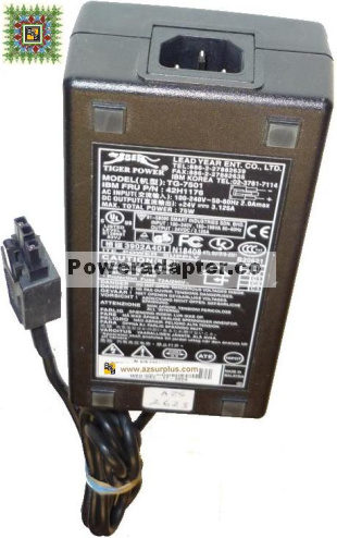 IBM Tiger Power TG-7501 42H1176 AC ADAPTER 24VDC 3.125A 75W 3Pi