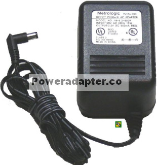 Metrologic 48-5.2-650R Ac Adapter 5.2VDC 650mA (-) 2x5.5mm 120V