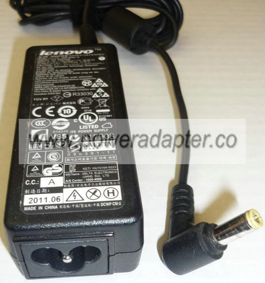 LENOVO ADP-40NH B AC ADAPTER 20V DC 2A USED -(+) 2.5x5.5mm POWER