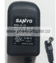 SANYO AD-210 AC ADAPTER 9V 210mA USED -(+)- 2x5.5x9.5mm