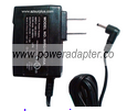 WRG10F-055A AC ADAPTER +5.5VDC 1.5A USED -(+) 0.5x2.3mm 90° DEGR